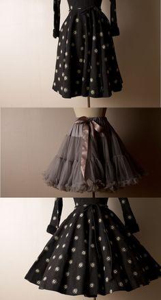 The petticoat makes the dress
