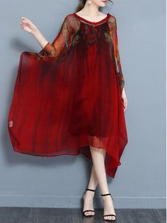 c3395ab4fdd Casual Batwing Two Piece Plus Size Vintage Dress