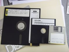 8 inch, 5 1/4 and 3 1/2 floppy disks.