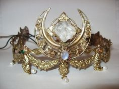 Current moon queen tiara (for special occasions) Circlet, Moon Goddess, Handfasting, Fantasy Jewelry, Pagan Jewelry, Tiaras And Crowns, Wiccan, Fashion Rings, Jewelery