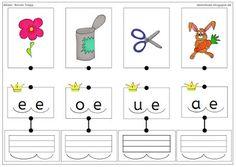 Schreiben mit der Anlauttabelle - Buchstabenkönige http://ideenbude.blogspot.de/2015/11/kartei-zu-den-silbenkonigen.html