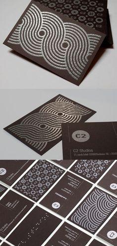 textured & graphic business cards | #Business #Card #letterpress #creative #paper #bizcard #businesscard #corporate #design #visitenkarte #corporatedesign < found on www.adsoftheworld.com pinned by www.BlickeDeeler.de | Have a look on www.LogoGestaltung-Hamburg.de