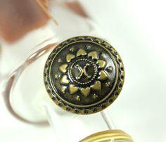 metal buttons leaf vines metal buttons antique brass color