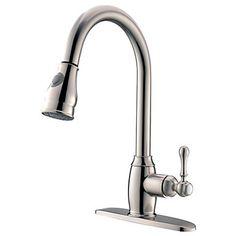 Nutida Utdragbar Pull down Horisontell montering Utdragbar dusch Roterbara with Keramisk Ventil Singel Handtag Ett hål for