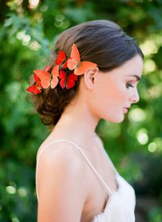 Butterfly hair: http://www.stylemepretty.com/2015/07/23/romantic-fairytale-santa-barbara-wedding-inspiration/ | Photography: Jose Villa - http://josevilla.com/