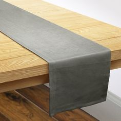 """Darby Home Co Shep Linen Table Runner Color: Gray, Size: 1"""" H x 108"""" W x 14"""" D"""