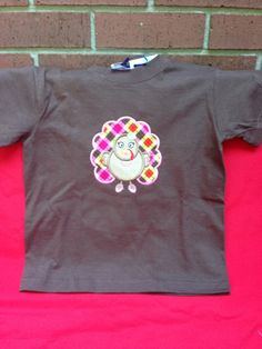 Girly Turkey Thanksgiving applique  $18 for shirt $10 for doll shirt