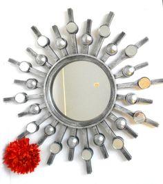 20 Mirror Round Mirror Sunburst Mirror Decorative by GoldLeafGirl