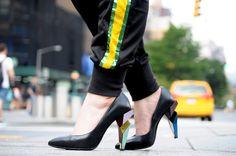 [ Lizzie Lo ]: TAXI http://www.lizzie-lo.com/2014/09/taxi.html [PRADA shirt  +  Usain Bolt x Puma pants  +  Marc Jacobs messenger bag  +  APCLPSO RAVACE clutch  +  PHUSE bangle  +  Fendi pumps]