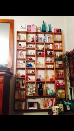 Perfume collection/display