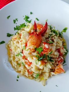 21 Risotto Recipes To Lavish On Your Dinner Table Seafood Risotto Fish Dishes, Seafood Dishes, Fish And Seafood, Seafood Recipes, Lobster Recipes, Frozen Seafood, Lobster Risotto, Seafood Risotto, Rice Recipes