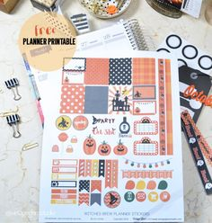 Halloween Planner Stickers | Free printable, for personal use only