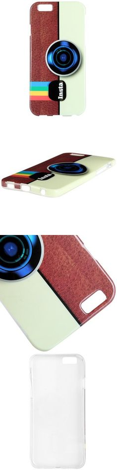 Silicone Material Camera Design Back Cover Case for iPhone 6 4.7 inch Screen