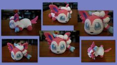 Baby Sylveon  - Pokemon character - Free Amigurumi Pattern here: http://aphid777.deviantart.com/art/Baby-Sylveon-with-pattern-460386813