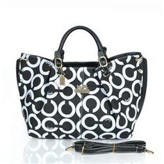 Coach C Signature Large Black Satchels ESO