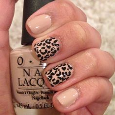 Try nude leopard nails for a fun fall look!