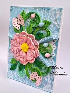 Quilled floral piece - by: Laura Mavrodin-quilling my passion