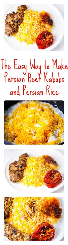The most popular Persian dish has huge flavors using simple ingredients you prob already have--Persian kabobs and Persian rice AKA chelow kabob!