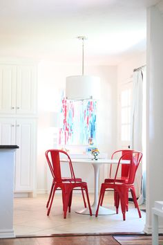 Last year we did a light makeover on our combined kitchen/family room which involved painting everything a glorious white and bringing in color through furniture and accessories. Our bright little breakfast nook in particular is one of my favorite corners of our home and the space we primarily eat in as a family. It's the [...]