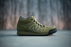 """The Herschel Supply Co x New Balance H710 """"Olive Green"""" is available now at dealers including Politics."""