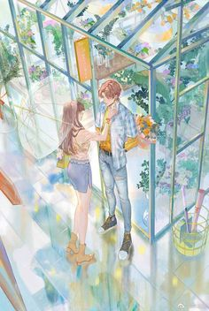 Manga Couple, Anime Love Couple, Couple Cartoon, Night Sky Wallpaper, Romantic Anime Couples, Cute Couple Art, Manga Girl, Character Illustration, Japanese Art
