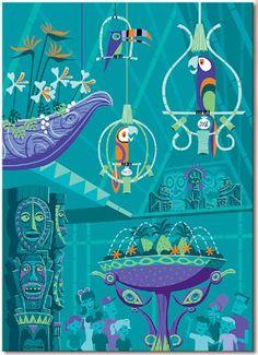 quintessential shag...Disney Shag The Birds Sing Enchanted Tiki Room 50th Ann Giclee Canvas 46 200 | eBay..