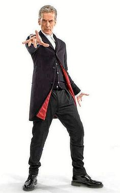 Peter Capaldi suited and booted for his role as Doctor Who.
