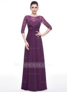 A-Line/Princess Scoop Neck Floor-Length Ruffle Beading Sequins Zipper Up Sleeves Sleeves No 2015 Grape Summer Fall Winter General Plus Chiffon Lace Mother of the Bride Dress Purple Evening Gowns, Evening Gowns With Sleeves, Prom Dresses With Sleeves, Mob Dresses, Bridesmaid Dresses, Bride Dresses, Fashion Dresses, Mother Of The Bride Gown, Mother Of Groom Dresses