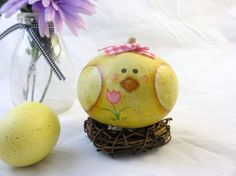 Easter  baby chick small gourd decoration on by KaoriKreations, $9.50
