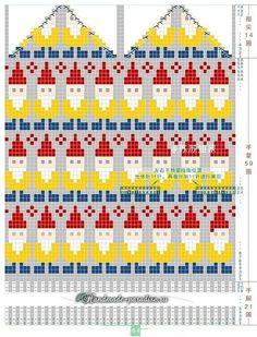 Baby Boy Knitting Patterns Free, Fair Isle Knitting Patterns, Fair Isle Pattern, Knitting Charts, Baby Knitting, Knitted Mittens Pattern, Knit Mittens, Knitted Gloves, Knitting Socks