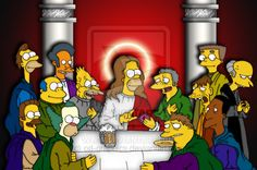 Famous Artwork, Last Supper, Female Characters, Fictional Characters, Homer Simpson, Classic Tv, The Simpsons, Memes, Les Oeuvres