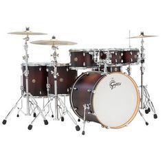 gretsch catalina maple 7 piece rock shell pack drum set