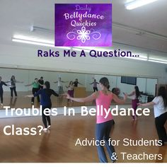 Practical advice for bellydance teachers (and students) on sticky class situations and bad behavior. Watch here:https://www.youtube.com/watch?v=YEhVSbjV40A