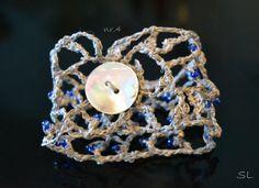 Handmade Elegant Bracelet, Unique Natural Jewelry, Fashion Accessories, OOAK, Original Gift, Crochet Jewelry by JustAfantasy on Etsy