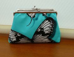 Butterfly Purse Make-Up Purse Christian Lacroix Butterfly Parade Cotton Purse by Bagsofelegance on Etsy