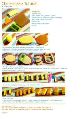 Polymer Clay : Cheesecake Tutorial by CraftCandies.deviantart.com