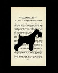 Miniature Schnauzer Silhouette Natural or by silhouetteMYpet, $25.00