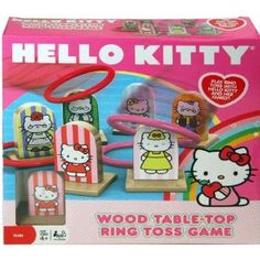 Hello Kitty Wood Ring Toss Game Sanrio for sale online Hello Kitty Games, Hello Kitty Toys, Kitty Party Games, Cat Party, Mickey Mouse Parties, Mickey Mouse Birthday, Toy Story Birthday, Toy Story Party, Ring Toss