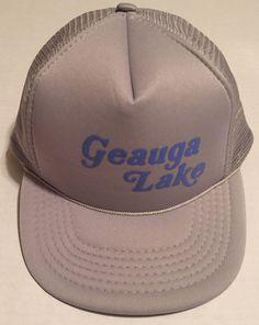 Geauga Lake Trucker Hat Gray Bainbridge Township Aurora Ohio Amusement Park #Unbranded #Trucker