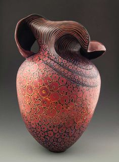 """My Mood, It Blooms Like Flowers"" - Pottery ceramic vessel by Melanie Ferguson - Art pottery ceramics Raku Pottery, Pottery Sculpture, Pottery Art, Pottery Designs, Sculptures Céramiques, Ceramic Sculptures, Contemporary Ceramics, Ceramic Artists, Clay Art"