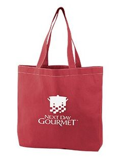 Lightweight Color Tote with Stitching, FemmePromo Imprint - Femme Promo, promo, giveaway. #femmepromo #redtotebags #giveawaytotes #promoredtotes
