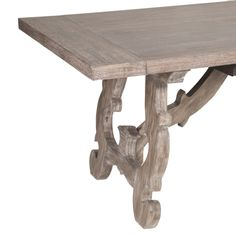 Haute Extension Dining Table : Beautifully unique scroll-carved legs make this table one of a kind! Offered in new finish from Traditions Collection called Gray Wash. New Introduction Summer 2014! #transitional #dining #OEF @starintfur