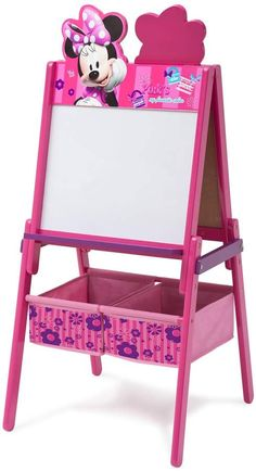 Delta Children Wooden Double-Sided Kids Easel with Storage -Ideal for Arts & Crafts, Drawing, Homeschooling and More, Disney Minnie Mouse Little Girl Toys, Toys For Girls, Kids Toys, Baby Girl Toys, Disney Princess Room, Princess Toys, Minnie Mouse Toys, Toddler Girl Gifts, Jeep Wrangler Accessories