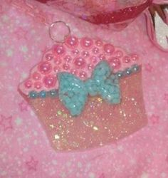 Gorgeous Pink and Blue Cupcake Pendant by GlamCandyBoutique, $18.00