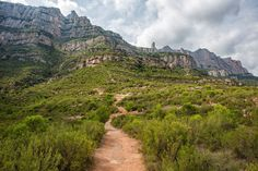 Hiking Montserrat in Catalonia, Spain. How to get to Montserrat, hiking the Cami de les Aigues and Drecera dels Tres Quarts, photos of the route. Walking Sticks, Pilgrim, Hiking Trails, Barcelona, Country Roads, Mountains, World, Places, Water