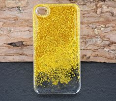 Golden Glitter iPhone caseSparkle glitter iPhone 6 by UUniquecase