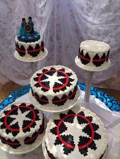 Navajo basket wedding cake
