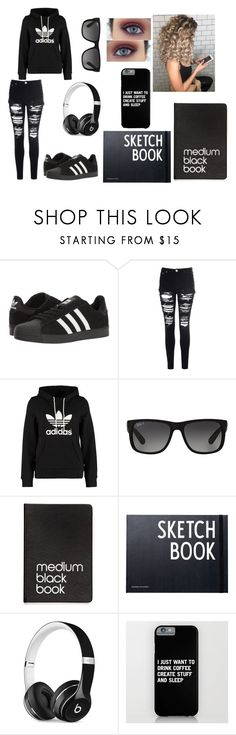 """""""Untitled #245"""" by bailey-lynn1 ❤ liked on Polyvore featuring adidas, Glamorous, adidas Originals, Ray-Ban, Dinks, Design Letters and Beats by Dr. Dre"""