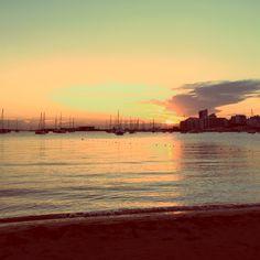 Sunset  Ibiza Beach san Antonio