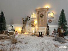 A home for a gnome magic Christmas for children with the gnome . A home for a gnome magical Christmas for children with the gnome door or Nisse door Magical Christmas, Christmas Diy, Christmas Decorations, Gnome Door, Gnome House, Drawer Design, Xmas Lights, Printable Christmas Cards, Kids Calendar